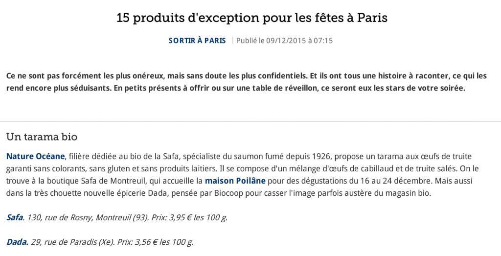 15 produits d'exception pour les fêtes à Paris